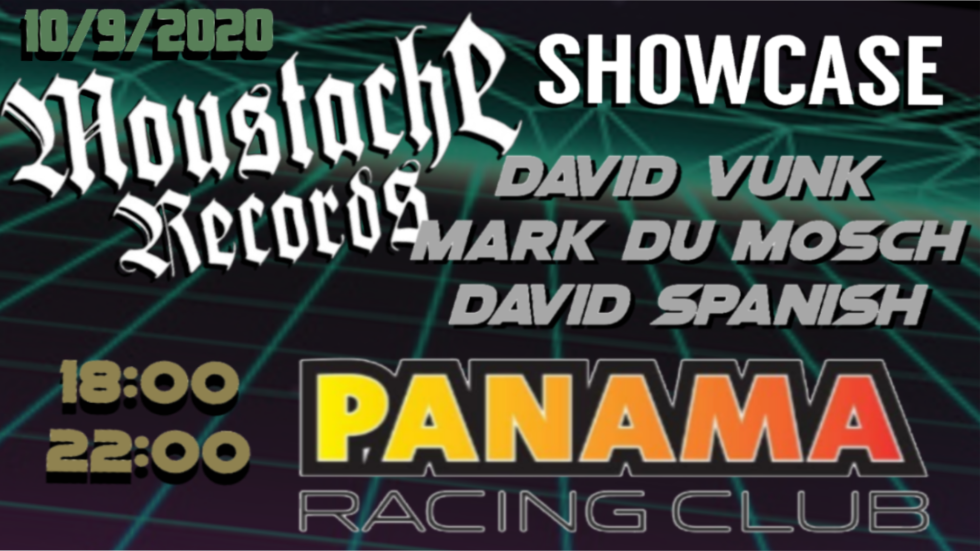 Moustache Records Showcase Feat. David Vunk, Mark Du Mosch & David Spanish